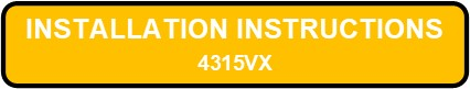 4315VX LED PITKIN Installation Instructions Button