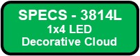 3814L LED DECO PLEX I Button