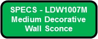 CUBICKL MEDIUM LED SPECS LDW1007M