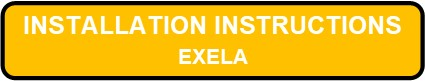 EXELA LED Surface Edgelit Aluminum Exit Sign Installation Instructions Button
