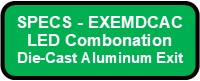 EXEMDCAC Exit And Emergency Die Cast Aluminum Combo Button