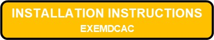 EXEMDCAC Exit And Emergency Die Cast Aluminum Combo Installation Instructions Button