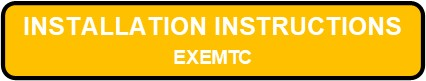 EXEMTC Exit And Emergency Thermoplastic Combo Installation Instruction Button