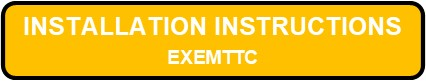 EXEMTTC Exit And Emergency Thin Thermoplastic Combo Installation Instructions Button