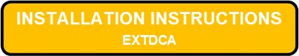 EXTDCA LED Thin Die Cast Aluminum Exit Sign Installation Instructions Button