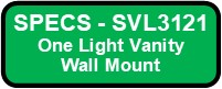 SVL3121 SHEILA Vanity Wall Sconce Button